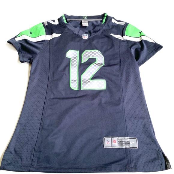 Seattle Seahawks 12th Fan Youth Jersey Navy XL 16//18